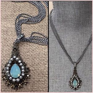 Multi-Chain Oacific Opal Crystal pendant Necklace